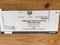 U2 Standing ticket MEN Arena 20th October. Highly sought after for sold out gig.Fetching over £200.