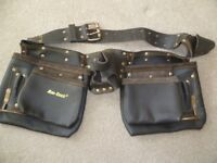leather brown builders handy waist belt. Never been used