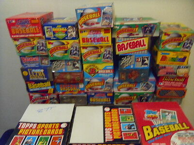UNOPENED VINTAGE BASEBALL CARD PACKS FROM 20-27 YEARS AGO FROM ESTATE SALE