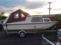 17 ft Erne craft dory cabin cruiser in excellent. Condition. 30 hp tohatsumotor. Serviced.