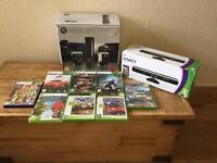 Xbox 360 with Kinect and 9 games