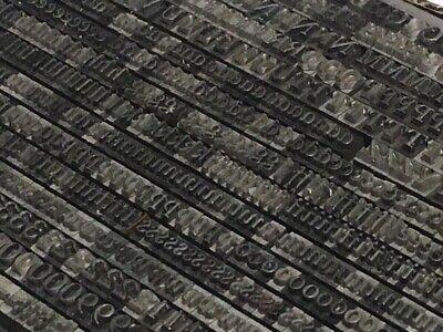 Caslon Lightface Italic 12 Pt - Letterpress Type Metal Lead Printing Sorts Font