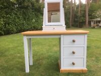 Hand painted pine dressing table & trinket box mirror in skylight