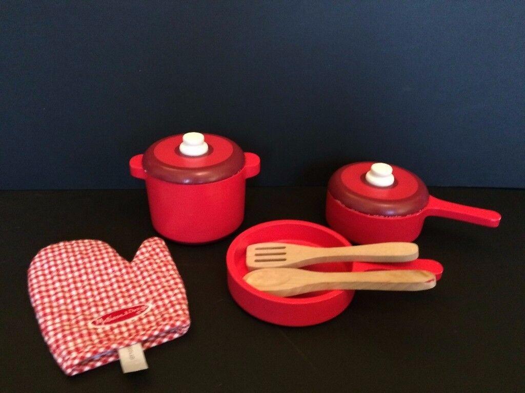 Wooden Pretend Play Pots & Pans Set - Melissa & Doug