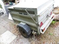 Car Trailer - Incredibly Solid - with solid roof bars to carry top box or bikes