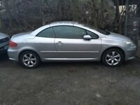 Peugeot 307cc Convertible, great condition, only 2 previous owners