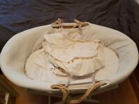 Moses Basket (with stand and linens)