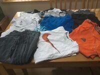 Selection of t shirts addidas and nike