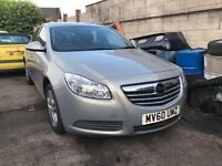 2010 VAUXHALL INSIGNIA EXCLUSIV 1.8 PETROL. 6 SPEED. SPARES OR REPAIRS. STARTS AND DRIVE. OVER HEATS