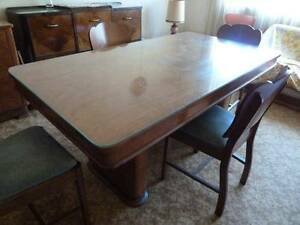 Antique art deco dining table and 6 chairs Burwood Burwood Area Preview