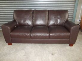 Dark Brown Leather 3-1-1 Suite (Sofa)