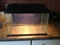 SAVIC AQUARAMA 40CM FISH TANK VIVARIUM COMPLETE WITH LID & LIGHT