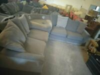 Grey Fabric corner sofa ipod docking speakers Delivery Poss