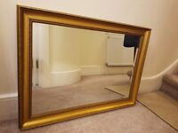 Gold colour frame glass mirror