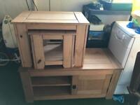 Nest of tables and tv cabinet
