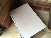 15 Johnsons Ceramic Wall Tiles (Cream) Collect Only