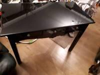 Black glass dressing table