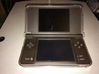 Used Dark Brown Nintendo DSi XL with Clear Plastic Case