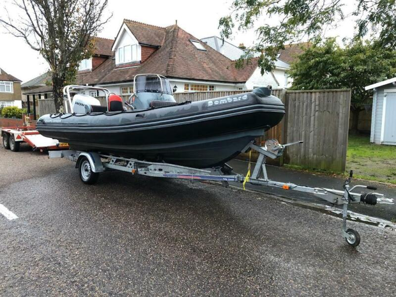 Rigid inflatable boat (RIB) 6 metre, Honda 115 outboard, indespension trailer for sale  Christchurch, Dorset