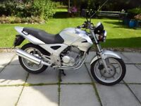 2006 Honda CBF 250cc, genuine 3,600 miles, MOT 14th April 2018, under SORN