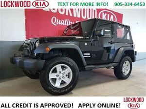 2016 Jeep Wrangler Sport ONE OWNER TRADE-IN, NO ACCIDENT'S