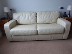 Leather Sofa Bed in very good condition