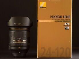 Nikkor AF-S 24-120mm f/4G ED VR Lens - UK model
