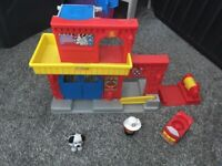 Toy fire station by little people