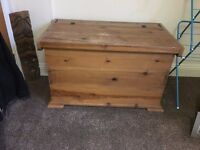 Lovely Large, Heavy and Solid Pine Chest - Store Lots, Makes a good Seat Too £97 ono
