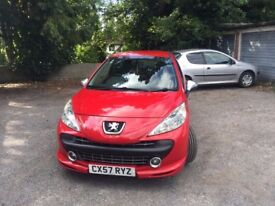 Peugeot 207 GTi, Remap, Full Exhaust System, Induction Kit, Turbo Refurb, 4 Matching tyres, FSH,
