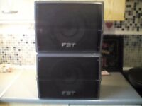 Pair of FBT pa speakers £40 cash