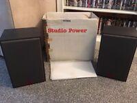 pair of ultra rare studio power speakers