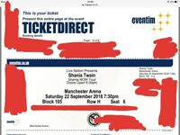 Four Shania Twain tickets. 22nd September Manchester Arena