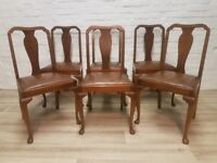 Six Queen Anne Style Dining Chairs (DELIVERY AVAILABLE)