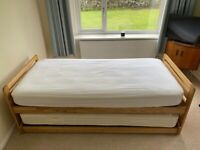 Heals Storabed, 90cmx190cm Single bed with separate folding single bed