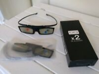 Pair of unused Samsung Active 3D glasses