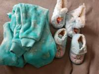 Aged 2-3 PJs and size 6 slippers - frozen theme