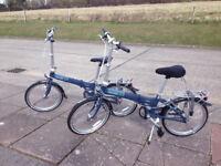 Dahon Vitesse D3 three speed fold up bicycles