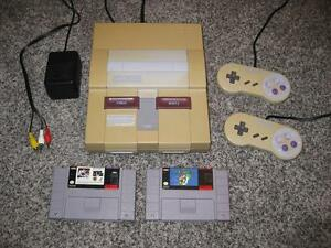 SUPER NINTENDO SYSTEM SNES & MARIO WORLD & NHL