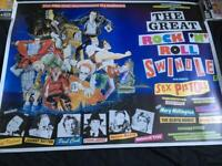 Used, Sex pistols film quad size film poster the great rock n roll swindle for sale  Southampton, Hampshire