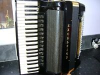 excelsior symphony gold double cassotto accordion
