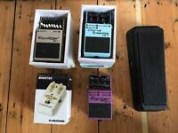 Guitar pedals - priced separately