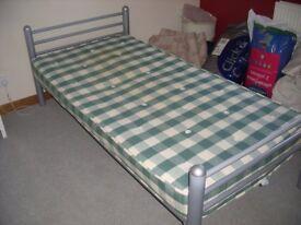 Childs grey metal bed frame