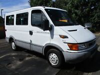 01Y IVECO DAILY 2.8 DIESEL MINIBUS 6 SEAT PLUS TWO WHEELCHAIRS WITH ELECTRIC RAMP LONG MOT PX SWAPS
