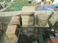 Flagstones, timber