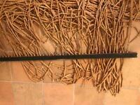 Free wooden door curtain