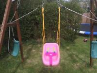 Little Tikes pink swing seat for toddlers
