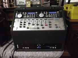 SOUND LAB PA SYSTEM AND 2 MATCHING SPEAKERS