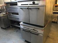 Catering equipment commercial gas double deck oven bakery oven double deck gas oven