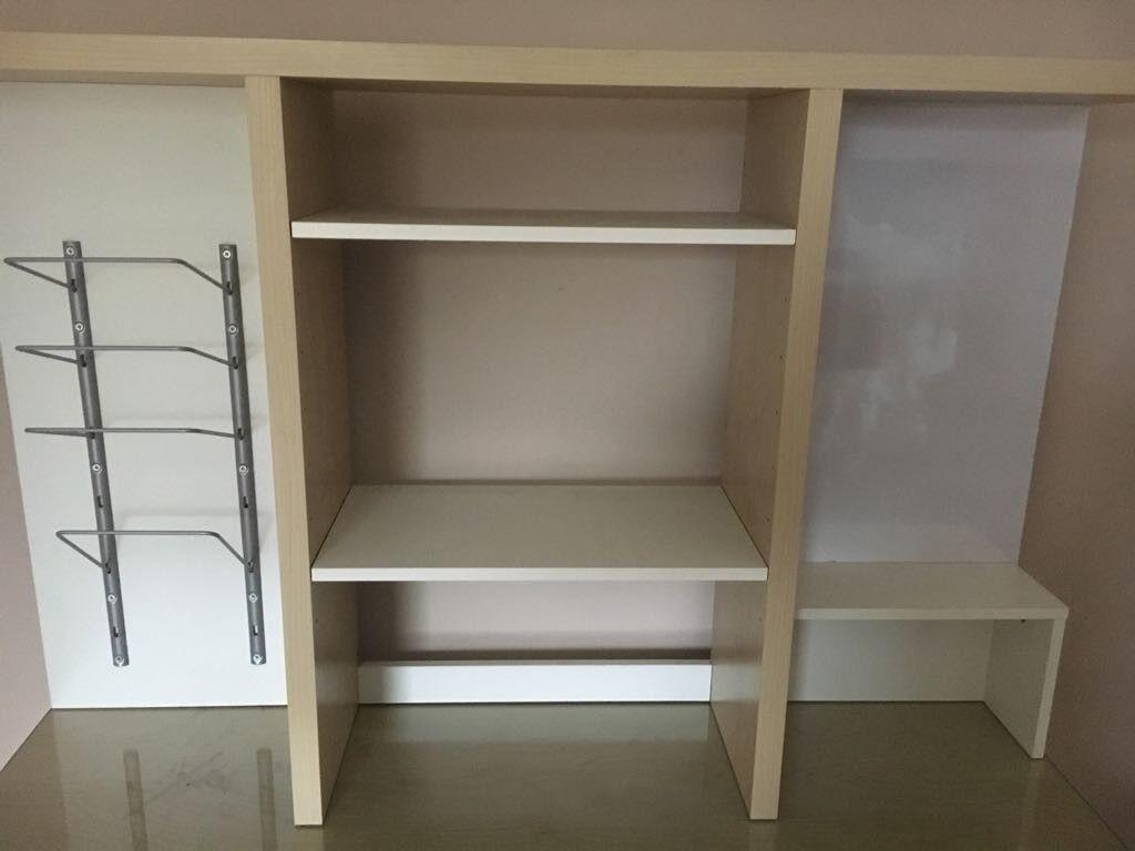 Ikea Light Wood Desk With Shelving